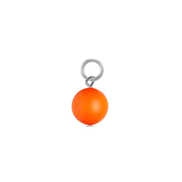 1Interchangeable Earrings Swarovski Neon Orange Pearl By Poshloot