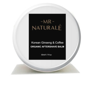 organic aftershave balm korean ginseng and coffee by mrnaturael